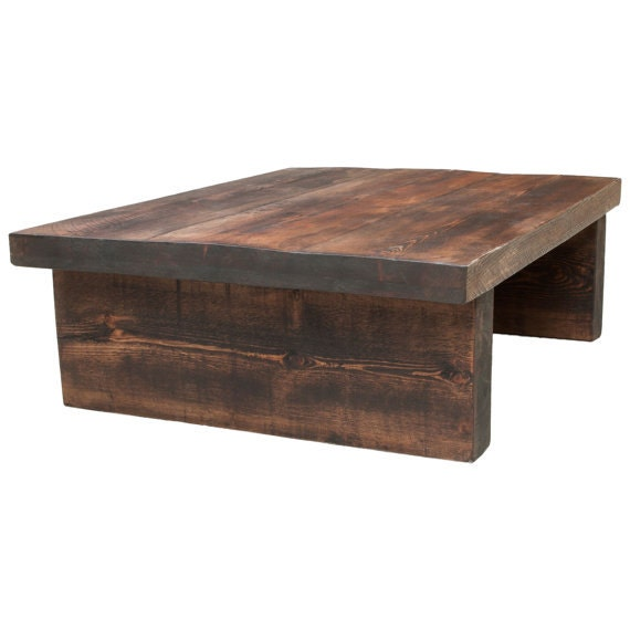 Items Similar To Chunky Coffee Table Rustic Hand Made