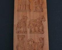 Double Sided Springerle Speculaas Christmas Cookie Butter Chocolate Mold  Wood Germany