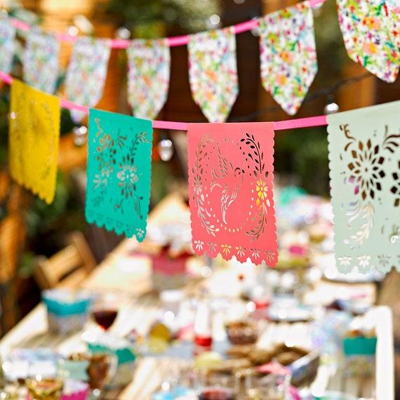 Papel Picado Fiesta Party Banner Fiesta Decor Fiesta