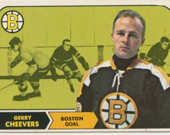 Gerry Cheevers 1968 Topps #1 Boston Bruins Hockey Card