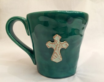Cross Peasant Coffee Mug