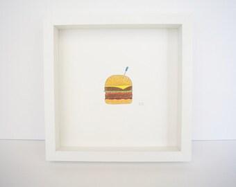 Big Burger (original ink and pencil drawing)