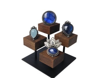 Ring display stand, jewelry display, jewelry stand, ring holder, store fixture, craft show display RING101