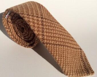 Harris Tweed camel and brown tie