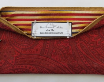 Persette #217 Personalized Zippered Organizing Pouch