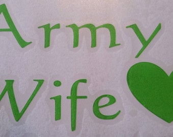Army wive decal