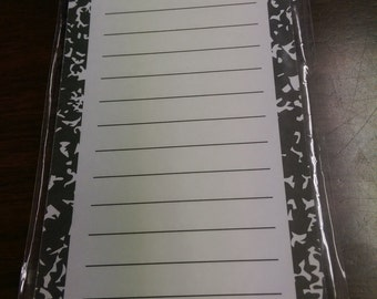 School Days Composition  Notes Magnetic Notepad