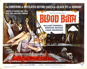 BLOOD BATH Movie Poster 1966 Horror Classic