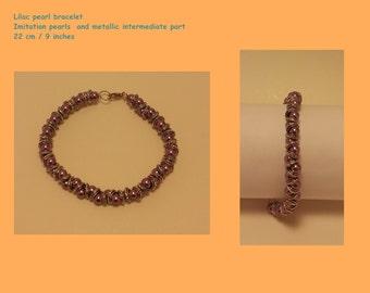Lilac pearl bracelet