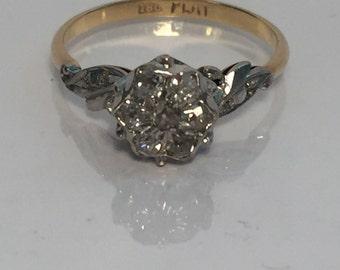 Stunning yellow gold and diamond engagement ring