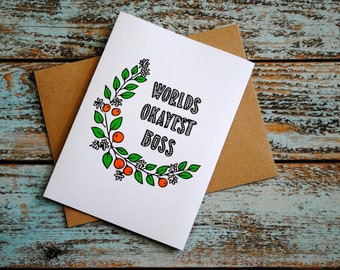 Boss's day snarky card