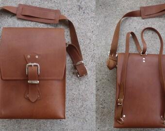 Leather Messenger Bag/Backpack