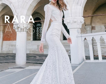 Wedding dresses, JANE, dress with sleeves, Sleeveless dress, gown with sleeves