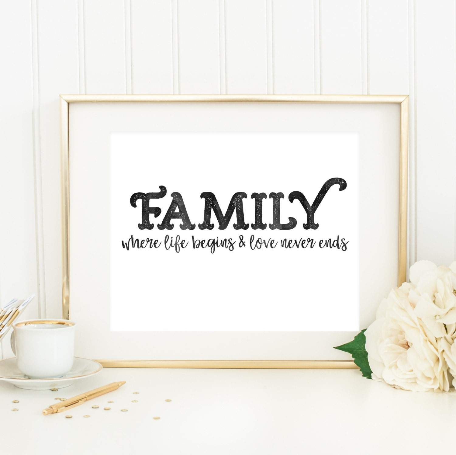 Family Where Life Begins And Love Never Ends Downloadable