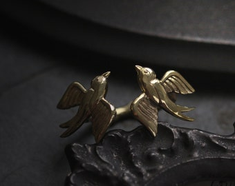 Two Swallows Ring Original design and made by Defy / Statement Ring Jewelry