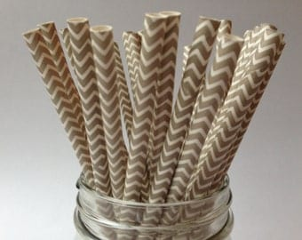 Grey Chevron Paper Straws,  Paper Straws, Gray Paper Straws, Chevron Paper Straws, Party Straws, Chevron Straws, Grey Chevron Straws,10 pcs