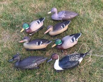 Vintage G & H Henryetta OKLA Working Weighted Duck Decoys