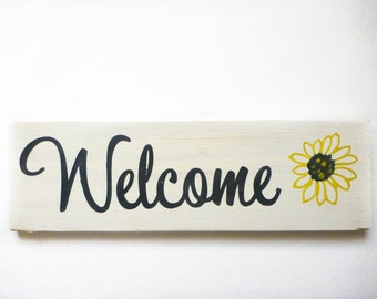 Welcome Wooden Sign - Welcome Sign for Front Door - Welcome Sign - Welcome Sign Outdoor - Home Decor - Rustic Welcome Sign