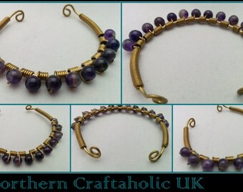 Amethyst Bracelet | Gemstones | Semi Precious | Wire Wrapped | Copper Wire