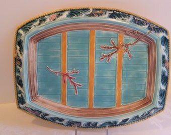 Wedgwood Majolica Boat-on-Wave 12.75'' Platter