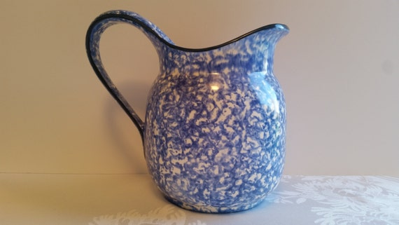Stangl Blue Town and Country 2.5 Quart Pitcher #5287