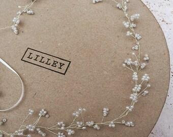 Handmade Ivory Bridal Hair Vine, Wedding, Bride