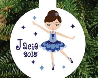 Personalized Dance Ornament Girl  Ballerina  Ornament