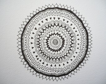 Hand Drawn, Ink pattern drawing.