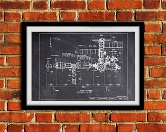International Space Station Port Elevation  #0069