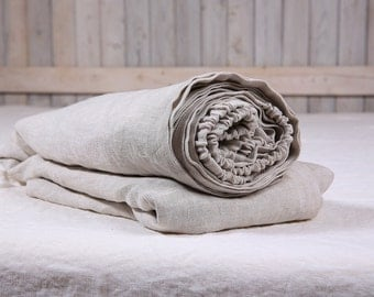 Linen fitted sheet without seams / Pure linen fitted sheet