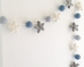 Stone and Co Felt Star Garland Nursery decoration