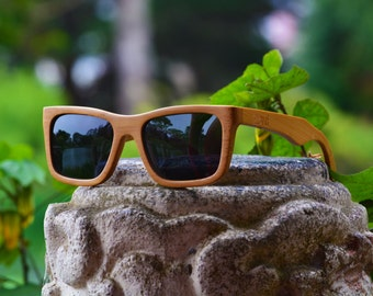 SALE! Handmade Natural Bamboo Sunglasses. Wooden Polarized Sunglasses