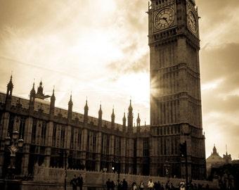 Big Ben Photography Print - London, Sunset, England Print - London Photography Print