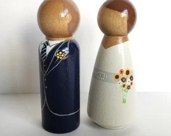 Custom Wedding Peg Dolls