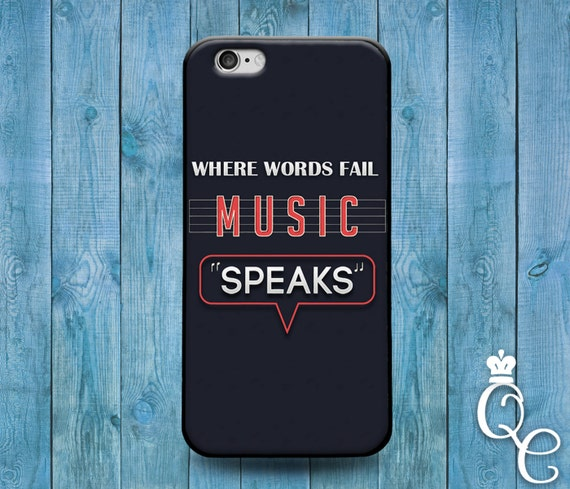 iPhone 4 4s 5 5s 5c SE 6 6s 7 plus + iPod Touch 4th 5th 6th Generation Cute Where Words Fail Music Speaks Custom Quote Cover Life Cool Case