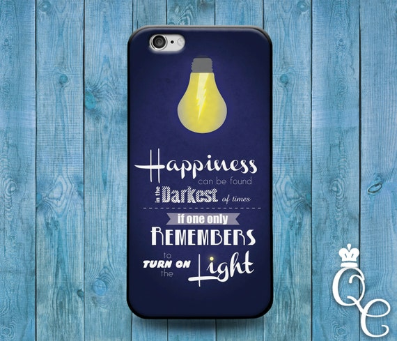iPhone 4 4s 5 5s 5c SE 6 6s 7 plus iPod Touch 4th 5th 6th Generation Blue White Cool Book Movie Quote Case Cute Happiness Life Phone Cover