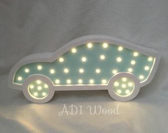 Nightlight is handmade of wood Machine