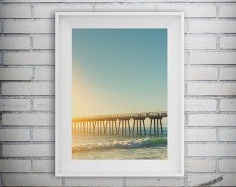 Beach Prints, Summer Photo, Beach Pier, Beach Decor, Sea Prints, Summer Print, Blue Ocean, Tropical Decor, Printable Art, Digital Download