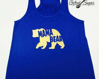 Mama Bear Tank, Mama Bear, Mother's Day, Mom Shirt, Workout, Fitness, Gym, Gold