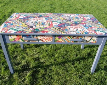 Stunning Office Desk - Unique Kitchen Table - Shabby Chic, Marvel Superhero