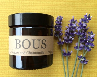 Lavender and Chamomile - Hand Poured Candle - Soy Candle - Aromatherapy Candle - Wooden Wick- Small Batch Natural  - Travel Candle