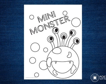Mini Monster Coloring Page