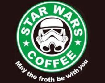 star wars coffee tshirt