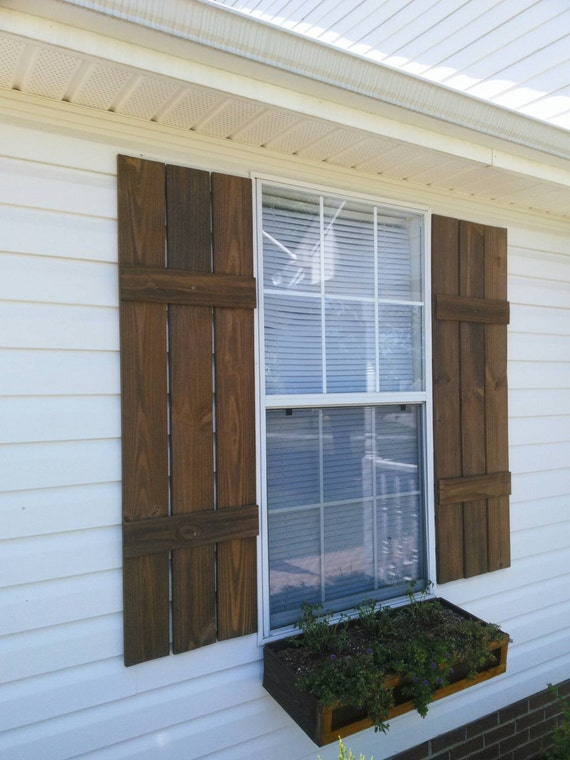 Rustic shutters for Exterior shutters that look like wood
