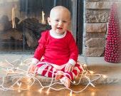 Unisex Red and White Stripe Christmas Pajamas