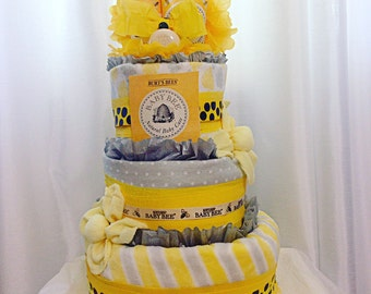 Burts Bees Diaper Cake for Boys or Girls