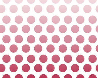 1/2 yd SALE Riley Blake Ombré Dots on Cream C310 80 Red