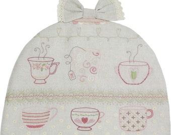 L'Heure du Thé Tea Time Embroidery Kit by Le Petit Atelier  #019