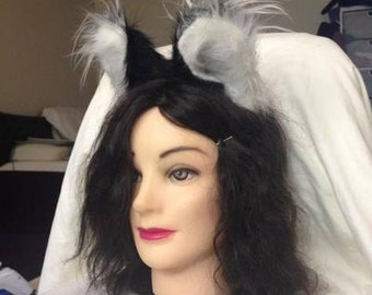 Cosplay Wolf Ears - Black & White