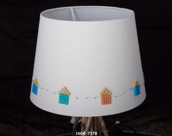 Nautical/BeachHut/Coastal Cream Hand Decorated Lampshade
